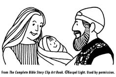 John The Baptist And Zechariah Coloring Page