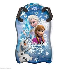 Disney Frozen Snow Sled Sleigh Sport Outdoor Toy Sledding Winter Anna Elsa Olaf