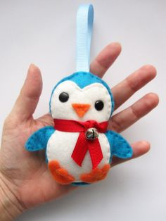 My daughter's favourite: Adorable Felt Penguin Christmas Ornament by Mariapalito on Etsy, $8.50