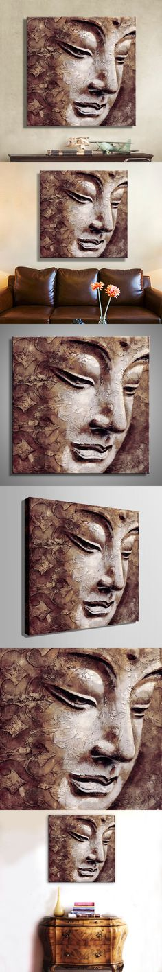 Oil Paintings Canvas Buddha Wall Art Decoration Artwork Home Decor On Canvas Modern Wall Pictures For Living Room(1PCS) $22.8