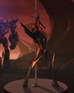 Megatron in background Outside: Dafaq? I don't care... Inside him: For Cybertron... Dat aft!