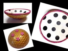 Custom Kate Spade Inspired Ring Holder- Handmade Ring Dish- polymer clay Bowl- Personalized Ring Dish- Engagement Ring Dish - pinned by pin4etsy.com