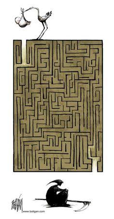 La vita come un dedalo? Un intestino? Un percorso con inizio ed una fine certi. Il resto tocca a NOI.