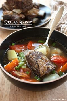 Sop Iga Bakar - Indonesian Grilled Ribs Soup. Need to buy beef ribs fresh ginger and galangal roots, carrots, potatoes, scallions, tomatoes, etc. Cons: Not low-carb, extra step of grilling, galangal hard to find here.  Pro: paleo/otherwise healthy, reheatable for work, looks tasty, do-able if you have a good Asian market nearby, doesn't require buying a lot of things that I might not use again, and uses a cheap cut of meat.
