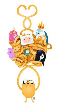 Adventure Time - Fan art by Rick Garcia, via Behance