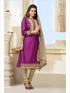 Violet Party Wear Art Silk Suit