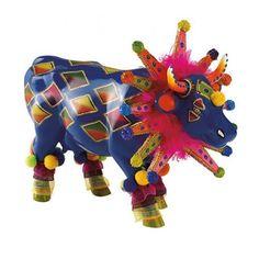Cow Parade kunstkoe Sambista #clown kleurrijk Skin Paint, Cow Parade, Sculptures, Lion Sculpture, Greyhound Art, Cow Creamer, Cow Art, Cute Cows, Futurama