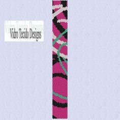 Abstract Peyote Bracelet Pattern by vidrotecido on Etsy, $2.00