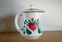 German hand painted Coffee Pot German Persian by AbateVintage