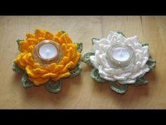 Kwiat lotosu - świecznik - Szydełkowanie bez tajemnic - YouTube