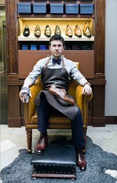 Shoe Shine by Justin in Gieves & Hawkes
