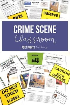My kids had so much fun staging a crime scene investigation and becoming detectives for a day! The and cases activities were easy to plan and the inferencing unit was easy to teach. Inquiry Based Learning, Project Based Learning, Inference Activities, Teaching Writing, Teaching Ideas, Reading Skills, Reading Workshop, Expressions, Life Hacks
