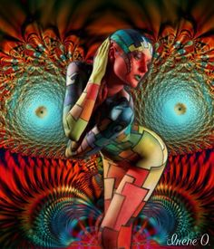 Color Contortion- Made by Irene O. with @Bazaart