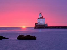 love the sunset together with the lighthouse!