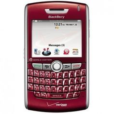 Red BlackBerry 8830