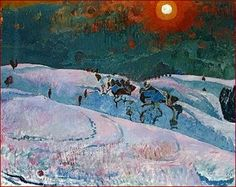 Winter Sun (Wintersonne) by Cuno Amiet, 1940