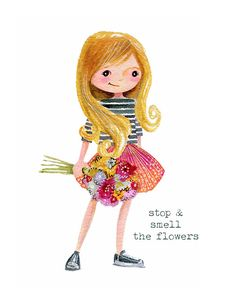 Stop & Smell the Flowers  - PRINT by stephaniecorfee on Etsy https://www.etsy.com/au/listing/221881207/stop-smell-the-flowers-print