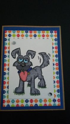 crazy dog by Angie1974 - Cards and Paper Crafts at Splitcoaststampers