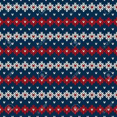 Christmas Sweater Design. Seamless Pattern Foto de archivo - 34010113