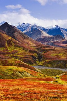 ~~Fall Colours And Alaska Range, Denali National Park, Alaska by Yves Marcoux~~