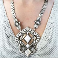 tribal bohemian necklace, Charming statement necklaces http://www.justtrendygirls.com/charming-statement-necklaces/