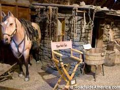 Original 1880 town with Dances with Wolves props.