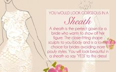 Livingly thinks I should wear a Sheath dress to my wedding! What about you? - Quiz