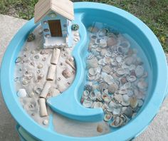 Summer isn't the only time kids can enjoy the water table. Here are some creative ideas for using your water table year round. Ocean Activities, Summer Activities, Preschool Activities, Outdoor Activities, Kindergarten Sensory, Educational Activities, Sand Play, Water Play, Sensory Bins