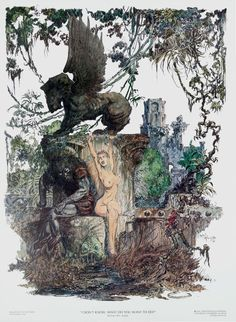 """Wonderful, Beautiful, and Strange Finds — """"I Don't Know, What Do You Want to Do?"""" by Michael. Figure Sketching, Sword And Sorcery, Animal Sketches, Fantasy Illustration, Fantastic Art, Fantasy Artwork, Comic Artist, Fantasy World, Erotic Art"""