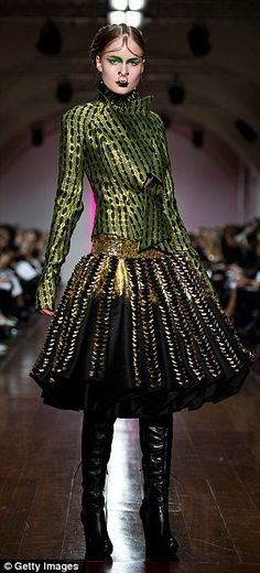 love the dress, not the piercings. they make me hurt. :)  All That Glitters - Fyodor Golan Autumn/Winter 2012