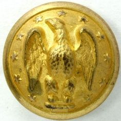 Confederate General officer's coat button.