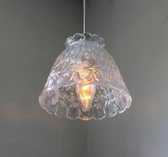 Glass BLOSSOM  Hanging Pendant Lighting Fixture  by BootsNGus, $65.00