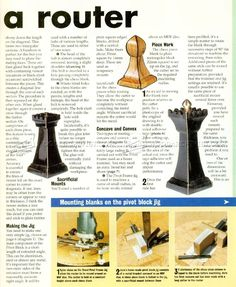 Making Chess With a Router - Woodworking Plans