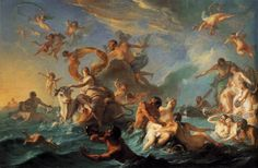 """On one wall, 1727 Noel-Nicolas Copyel's painting """"The Abduction of Europa"""" is awash with brilliant light and reflections. Description from doves2day.blogspot.com. I searched for this on bing.com/images"""