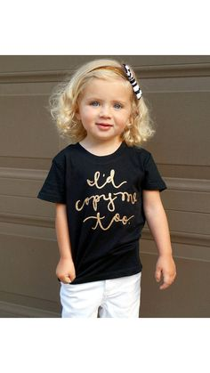 Id Copy Me Too. Toddler and Girls T by LolaandDarlaDesigns