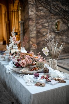 A decadent grazing table and bar inspired by languid summer celebrations, by The Lane and Eleven Events. Chutneys, Dinner Table, A Table, Table Party, Dessert Table, Wedding Table, Wedding Reception, Wedding Fair, Wedding Ideas