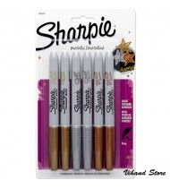 Bút Ánh Kim Sharpie Metallic - 1 hộp 6 cây 3 màu