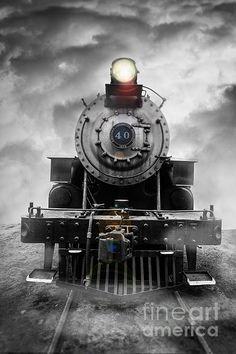 Steam train dream by Edward M. Fielding - www.edwardfielding.com