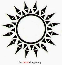 65 Sun Tattoos | Tribal Sun Tattoo Designs