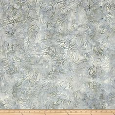 "106"" Wide Batavian Batik Quilt Back Bamboo Leaves Gray"