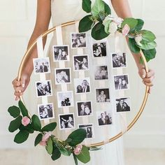 For those who are looking for some DIY projects for that personalised touch to your wedding reception - we love this Photo Hoop!