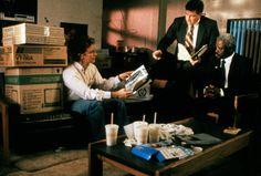 Ken Kessler (Judge Reinhold), Lt. Walters (Clarence Felder) and Lt. Bender (Art Evans) ~ Ruthless People (1986) ~ Movie Stills ~ #comedies #80smovies #80scomedies #moviestills