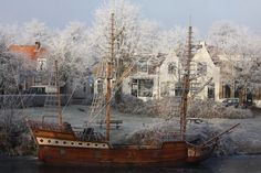 Geuzenschip in de winter