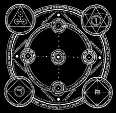 Sacred geometry drawing in black and white. Magical look and attention to details, distressed old look and geometric transmutation circle style Occult Symbols, Magic Symbols, Occult Art, Wiccan, Witchcraft, Spiritus, White Magic, Magic Circle, Sacred Art
