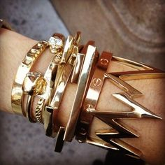 Pose :: Incredible arm party from @ManRepeller #jewelry