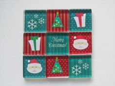 Christmas Decorations Refrigerator Magnets Set of 9 by DLRjewelry, $15.00