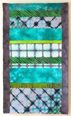 """Shibori Art-Quilt """"Sommerfluss / Summer River"""" - von Annette Aue - Art & Design"""
