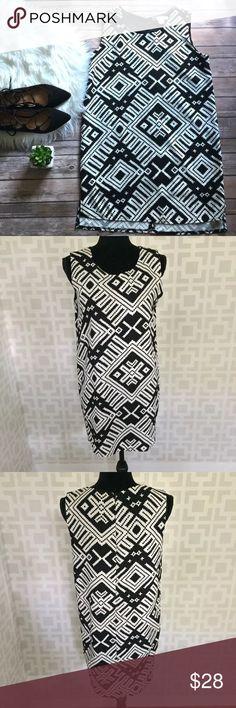 New ARRIVALS! Sans Souci Aztec Shift Dress M Like new! Dresses