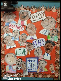 Martin's Big Words - great display for door or bulletin board  - perfect for Black History Month