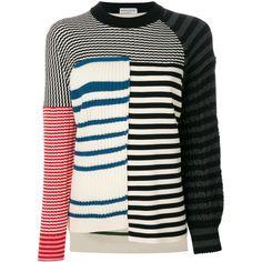 Sonia Rykiel striped panelled jumper (69 95dae7415
